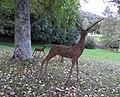 Deer sculptures, Canonteign Falls, nr Exeter (30933008300).jpg