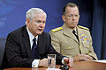 Defense.gov News Photo 100624-D-9880W-141 - Secretary of Defense Robert M. Gates and Chairman of the Joint Chiefs of Staff Adm. Mike Mullen hold a Pentagon press conference to discuss the.jpg