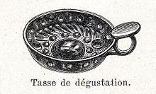 Una stampa, raffigurante il tastevin, proveniente dal