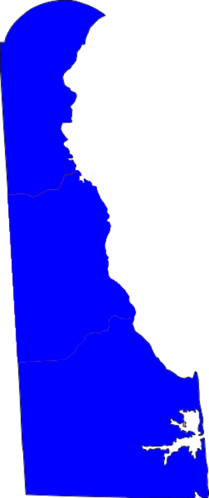 United States Senate election in Delaware, 1996 - Image: Delaware Election Results by county, all Democrat