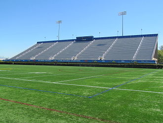 Delaware Stadium - A view of the interior of Delaware Stadium facing the visitor's stands.