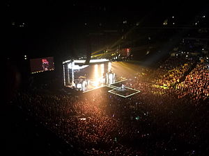 The Neon Lights Tour - Lovato performing at Nationwide Arena on March 22