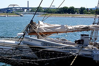 Denis Sullivan (schooner) - Image: Denis Sullivan (detail of prow)