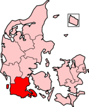 South Jutland County - South Jutland County in Denmark