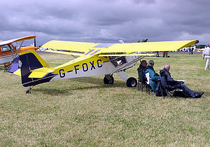Flaperon - Flaperons on a Kitfox Model 3, built in 1991.