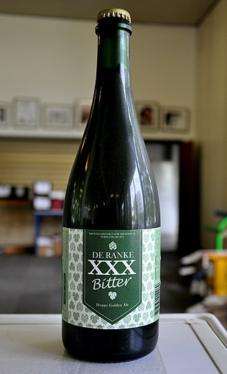 Beer measurement - A bottle of XXX bitter ale from Belgium. Originaly made for the US market