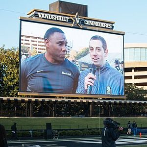 Derek Mason - Mason being interviewed at the 2016 Vanderbilt football spring game