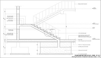 AutoCAD - An architectural detail drafted in AutoCAD (Windows)