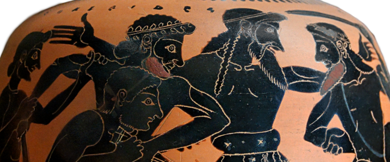 File:Detail of Odysseus and Aias fighting for Achilles Armor from Oinochoe Louvre F340 glare reduced 1200x500.png
