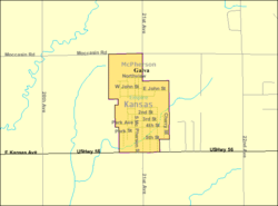 Detailed map of Galva, Kansas