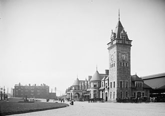 Railroad history of Portland, Maine - Union Station, 1909