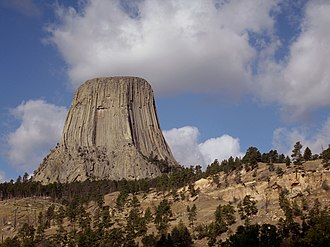 Sundance, Wyoming - Devils Tower National Monument near Sundance, Wyoming