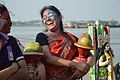 Devotee - Durga Idol Immersion Ceremony - Baja Kadamtala Ghat - Kolkata 2012-10-24 1537.JPG
