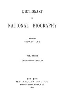 Dictionary of National Biography volume 33.djvu