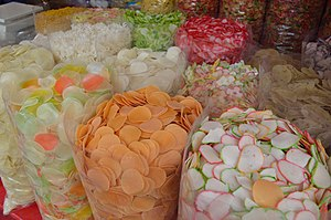 Papadum - Different types of papads sold at stores.