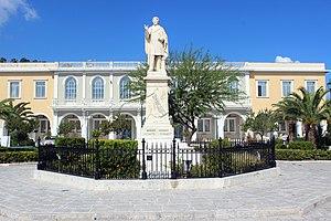 Dionysios Solomos statue - Zakynthos – Greek – 01