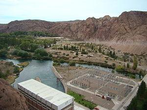 Florentino Ameghino Dam - Image: Diqueameghino 1