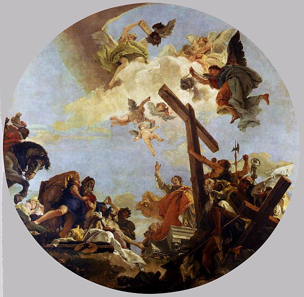 [peinture] Vos oeuvres préférées - Page 2 613px-Discovery_of_the_True_Cross_tiepolo