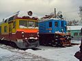 Disel and electric locomotives (3570364271).jpg