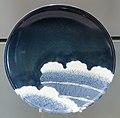 Dish with Banded Hedge Design, c. 1660-1680, Arita, hard-paste porcelain with underglaze cobalt - Gardiner Museum, Toronto - DSC00428.JPG