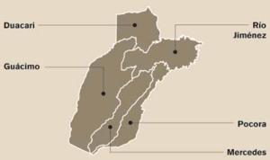 Guácimo (canton) - Districts of Guácimo canton