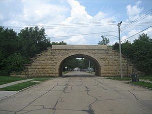 National Register of Historic Places listings in Lee County, Illinois - Image: Dixon Il ICRR Second St Bridge 7