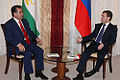 Dmitry Medvedev with Emomali Rakhmon-1.jpg