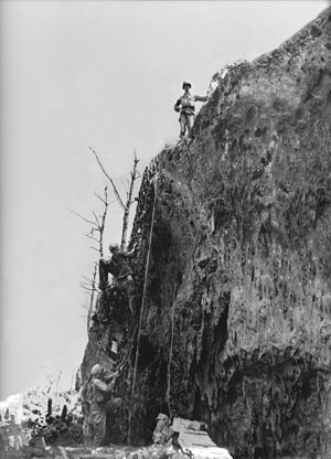 Hacksaw Ridge - Doss on top of the Maeda Escarpment, May 4, 1945