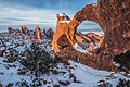 Double O Arch Snowy Sunset (11369901875).jpg