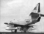 Douglas A-4C Skyhawk of VA-76 is launched from USS Enterprise (CVAN-65), in 1964.jpg