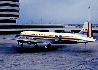 Jorge Chávez International Airport - Lima Airport in 1972 with a SATCO Douglas DC-4 operating an internal flight