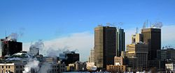 Skyline ya Jiji la Winnipeg