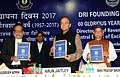 Dr. A. Adhia, IAS with Arun Jaitley and Shiv Pratap Shukla Corporate Affairs, Shri Arun Jaitley releasing the publication, at the Diamond Jubilee Celebrations of the Foundation Day of Directorate of Revenue Intelligence (DRI).jpg