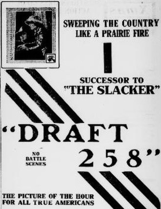 Draft 258 - Newspaper advertisement for the film
