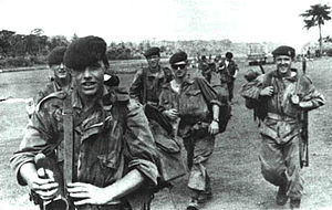 1st Parachute Battalion (Belgium) - Soldiers of the 1st Parachute Battalion in action during Operation Dragon Rouge.