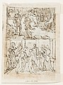 Drawing, Sketchbook Page with The Baptism of Christ and The Visit of the Virgin to Saint Elizabeth, 1591 (CH 18120075-2).jpg
