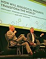 """Drew Endy at Techonomy Bio today """"What if we could make further evolution impossible?"""" (14260670779).jpg"""