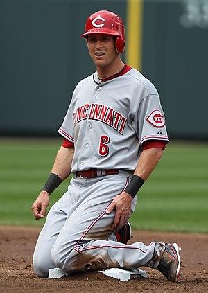 Drew Stubbs - Stubbs during his tenure with the Cincinnati Reds in 2011