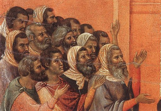 Duccio di Buoninsegna - Christ Accused by the Pharisees (detail) - WGA06802