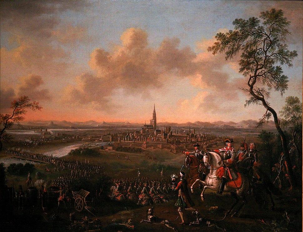 Duke of Lorraine crossing the Rhine before Strasbourg-f4308865