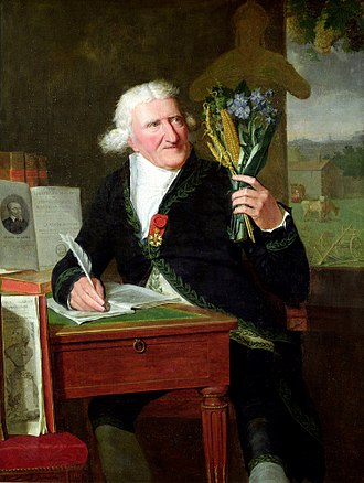 History of the potato - Antoine Parmentier holding New World plants, François Dumont 1812