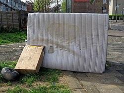 Dumped urine stained mattress Lordship Lane Tottenham, London, England 1.jpg