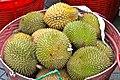 Durian at market in Singapore 01 - Dec 17, 2011.jpg