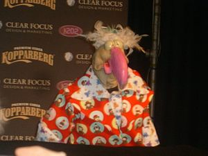 Ireland in the Eurovision Song Contest 2008 - Dustin the Turkey, popular children's show puppet.