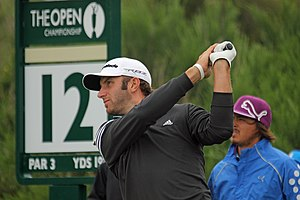 Dustin Johnson - Johnson at 2012 Open Championship