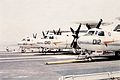 E-2B Hawkeyes of VAW-114 on USS Kitty Hawk (CV-63) c1974.jpg