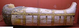 Rosicrucian Egyptian Museum - Image: Early 18th dynasty coffin REM RC 1678 1