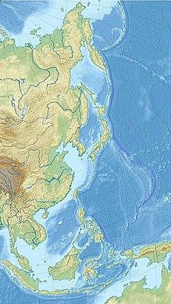 台湾海峡在东亚的位置
