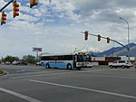 Eastbound Elevated Transit bus on US-6 in Spanish Fork, May 16.jpg