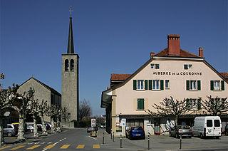 Échallens Place in Vaud, Switzerland